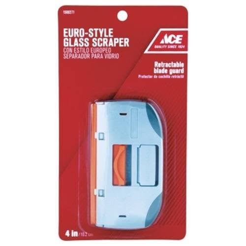Ace Hand Held Glass and Tile Scraper with Retractable Blade - 4""
