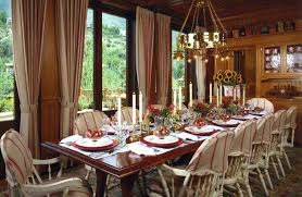 Christmas Dining Table Decorating Ideas Dinner Room Decoration Centerpieces