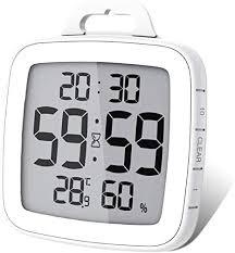 gudoqi badezimmer uhr dusche timer wand wecker digitaluhren steckdose bad wasserdicht innen thermometer hygrometer für dusche kochen make up
