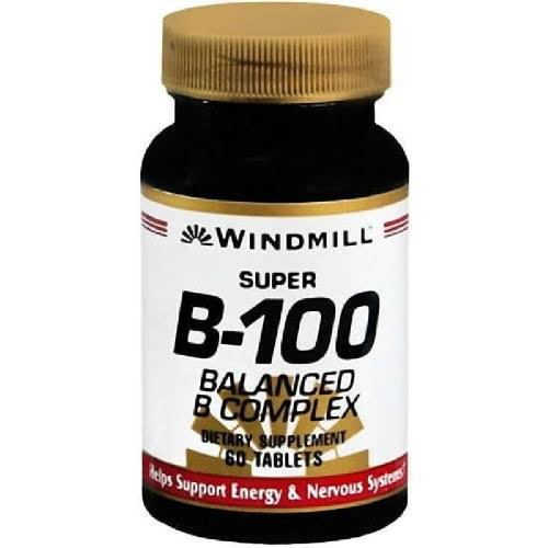 Windmill Super B-100 Balance B Complex Tablets - 60 ct