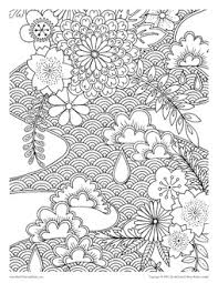 Japanese Designs From Adult Coloring Books