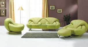 Stylish Green Leather Sectional Sofa Modern And Sofas 11