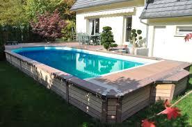 piscine bois semi enterree uteyo