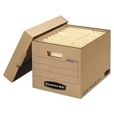 BANKERS BOX Heavy Duty File Box Letter Legal Kraft 25 Carton