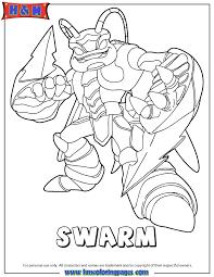 Skylanders Giants Air Swarm Coloring Page