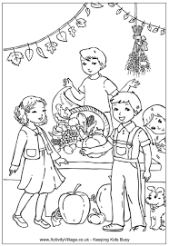Harvest Festival Colouring Page