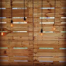 A Buddy Of Ours Came Up With This For Wedding Decoration Idea Brilliant Using Wooden Pallets An Clear Lights DIYWEDDING