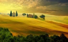 Tuscany Autumn Italy Sunset Nature Wallpaper 5120x3200