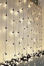 String Lights Hung From Ceiling