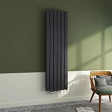 heizkörper flach 1600x500mm paneelheizkörper design heizung vertikal doppelwandig mittelanschluss anthrazit 1527 watt