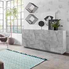 modernes wohnzimmer sideboard 4 türen 2 fächer mit regalen ping side l concrete