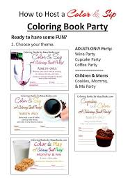 Want To Host A Coloring Book Party Here Are The Instructions