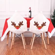 US $3.29 35% OFF New Deer Cap Chair Cover Christmas Dinner Table Party Elk  White Hat Chair Back Covers Xmas Christmas Decorations For Home-in Chair ... Us 429 New Year Party Decorations Santa Hat Chair Covers Cover Chairs Tables Chafing Dish And Garden Krush Linen Detroit Mi Equipment Rental Wedding Party Chair Covers Cheap Chicago 1 Rentals Of Chicago 30pcslot Organza 18 X 275cm Style Universal Cover For Sale Made In China Cute Children Cartoon Pattern Frozen Baby Birthday