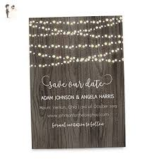 Rustic Save The Date Cards For Weddings Invitation Invite
