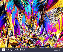 crystals in polarized light Stock Royalty Free Image