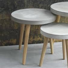 runder couchtisch greyment aus beton couchtisch rund