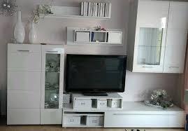 wohnzimmer schrankwand hochglanz weiß