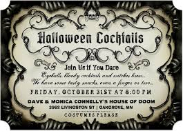 Livingston High Halloween Party 2014 by Halloween Spooky Cocktail Gothic Invitation Black U0026 Tan Join