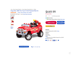 100 Power Wheels Fire Truck Kid Trax Brush Dodge Licensed 12V Ride On On Behance
