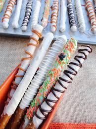 Halloween Pretzel Rods by Confections Coffee Chocolate Covered Pretzel Wands