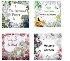 4 Design Secret Garden Beauty And The Beast Coloring Book Children Relieve Stress Kill Time Graffiti Painting Magic Forest Drawing A080