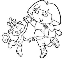 Image Coloring Dora And Boots Pages With Page