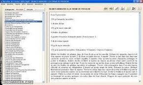 logiciel recette cuisine recettes de cuisine 2004 télécharger gratuitement la dernière