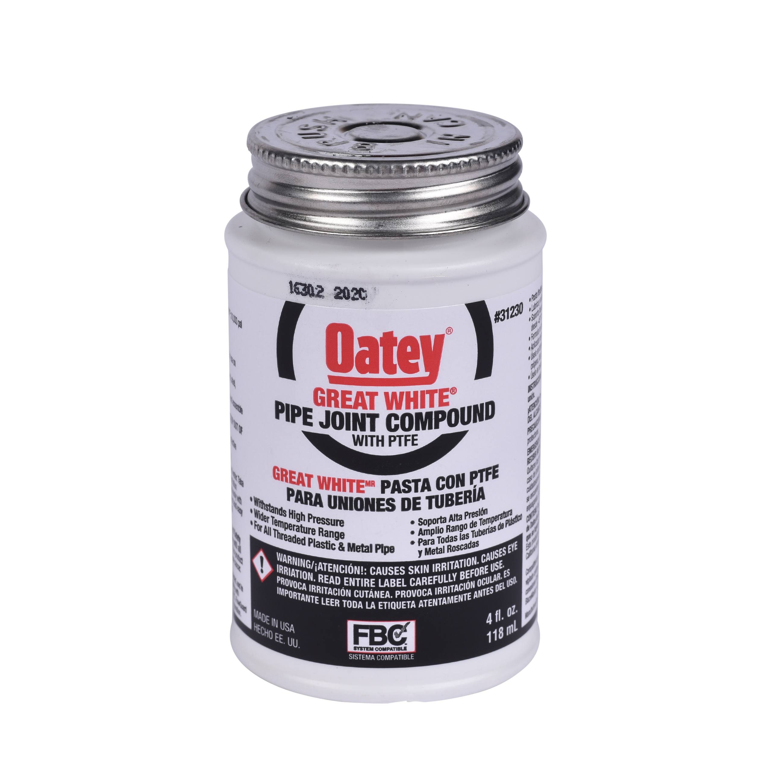 Oatey Great White Pipe Joint Compound - 8 Oz