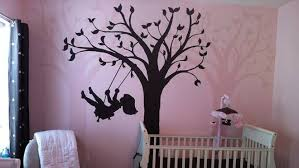 This Enchanting Swing Mural From Elephants On The Wall Is Simply Produced By Tracing And Paint