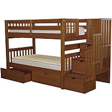 acme allentown twin over twin stairway bunk bed