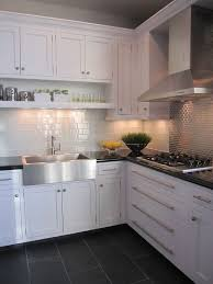 kitchen with black floor tiles how to clean kitchen with black