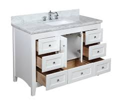 Kitchen Bath Collection KBC388WTCARR Abbey Bathroom Vanity with