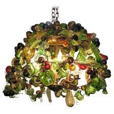 murano glass fruit chandelier at 1stdibs
