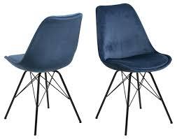 2x erin esszimmerstuhl blau stuhl set esszimmer stühle küchenstuhl küche möbel dynamic 24 de