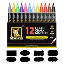 100 Chalks Truck Parts Amazoncom Chalk Markers By Woodsam 12 Pack Liquid Neon Pens