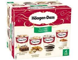mini pots häagen dazs favorite sélection 4 x 85 g surgelé livré