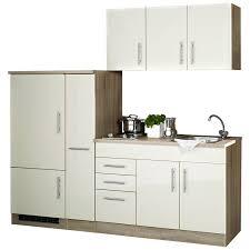 single küche 210 teramo 03 hochglanz creme breite 210 cm inkl kühlsch
