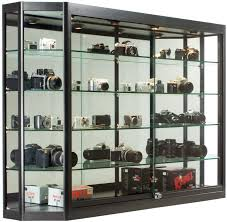 X Wall Mounted Display Case Wmirror Back Sliding Doors Cases For Collectibles Locking Black Ca Efe