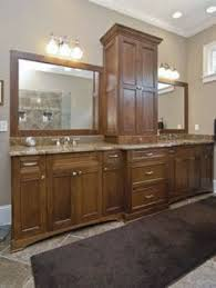 double vanities with towers center of this double vanity
