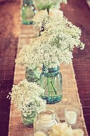 Babys Breath Is An Inexpensive Flower That Perfect For A Rustic Spring Wedding Centerpiece