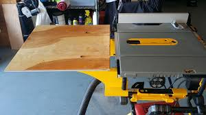 Sawstop Cabinet Saw Outfeed Table by Outfeed Table For Dewalt Table Saw For 10 Includes Plans 4 Steps