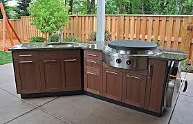 Kitchen Outdoor Kitchen Design Wooden Stackable Cabinets Granite