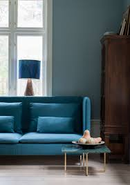 Teal Color Living Room Decor by Teal Ikea Söderhamn Sofa In Teal Blue Tegner Melange Cover By