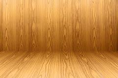 Texture Of Teak Wood Floor And Wallpaper Background Stock Photography