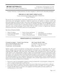Security Resumes Examples Subject Matter Expert Resume Samples Federal Example Free