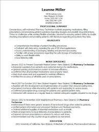 Example Pharmacy Technician Description Resume 39 Best Of
