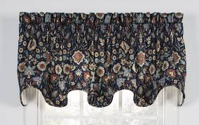 Navy Geometric Pattern Curtains by Geometric Print Curtains Window Toppers