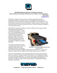 DECKED Debuts System For Midsize Pickups | SEMA Show Mid Size Crew Cab Trucks Auto Express 2018 Colorado Midsize Truck Chevrolet Why Do Most Midsize Pickup Trucks Have A Curved Bedcab Quora 10 Forgotten Pickup That Never Made It 2017 Midsize 2016 Toyota Tacoma This Model Rules Truck Market Drive To Compare Choose From Valley Chevy Around The World The Return Of American Popular Science General Motors Isuzu Part Ways On Development Honda Ridgeline Crme De La Of Short Work 5 Best Hicsumption