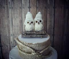 Owls Wedding Cake Topper Winter Fall