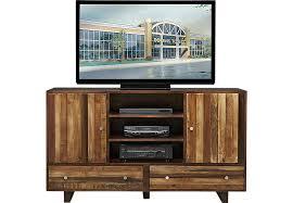 Moss Creek Brown 64 in Console TV Stands Dark Wood